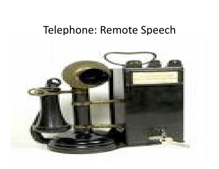 Telephone:RemoteSpeech     Pragyan, February 27, 2010            © Ramesh Jain   26