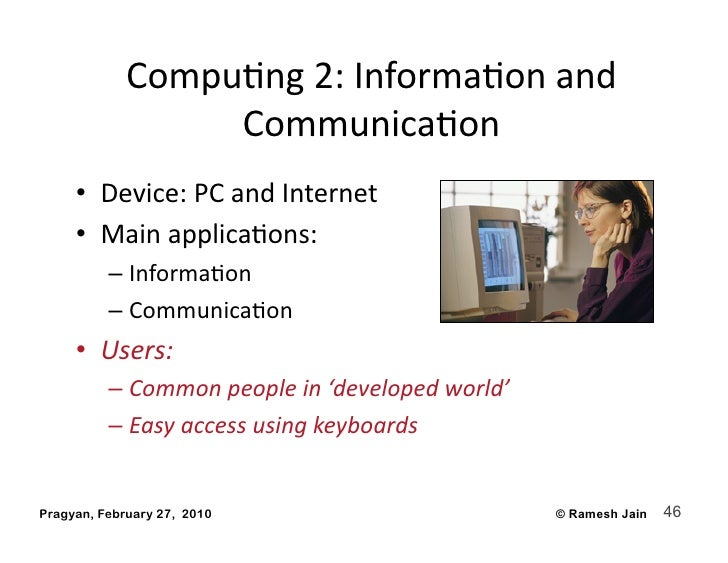 CompuAng2:InformaAonand                   CommunicaAon      • Device:PCandInternet      • MainapplicaAons:   ...
