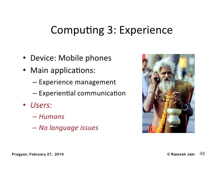 CompuAng3:Experience       • Device:Mobilephones      • MainapplicaAons:           – Experiencemanagement    ...