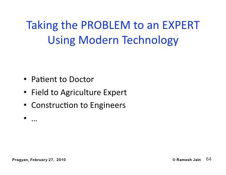 TakingthePROBLEMtoanEXPERT           UsingModernTechnology        •   PaAenttoDoctor      •   FieldtoAgric...