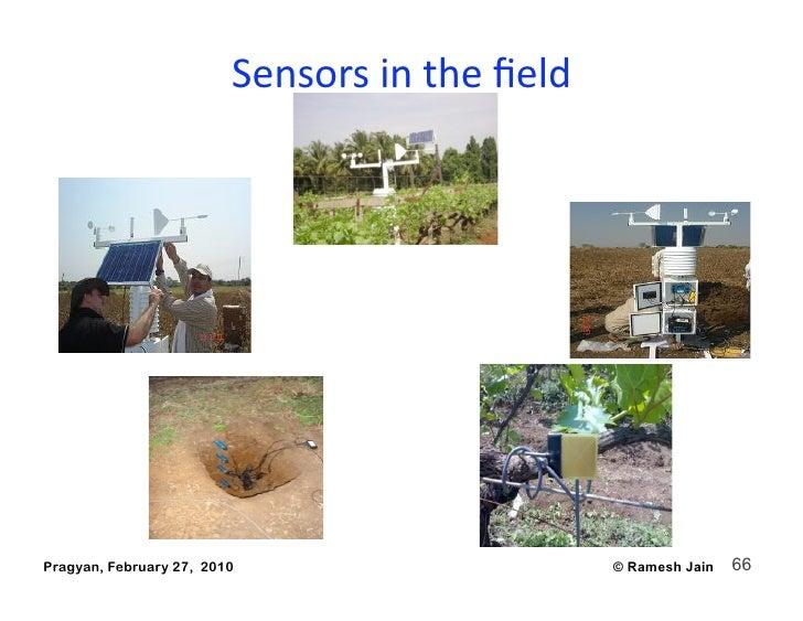 Sensorsinthefield     Pragyan, February 27, 2010                      © Ramesh Jain   66