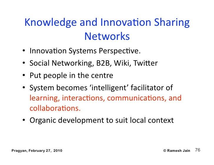 KnowledgeandInnovaAonSharing                  Networks      • InnovaAonSystemsPerspecAve.      • SocialNetworki...