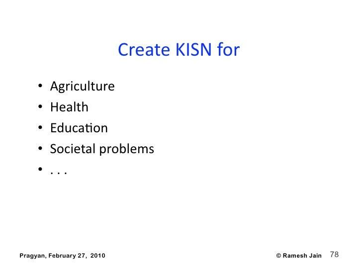 CreateKISNfor                                                   •   Agriculture      •   Health      •   EducaAon...