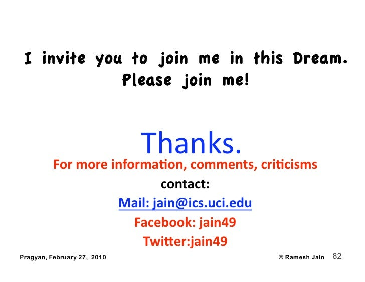 I invite you to join me in this Dream.              Please join me!                          Thanks.          Formorein...