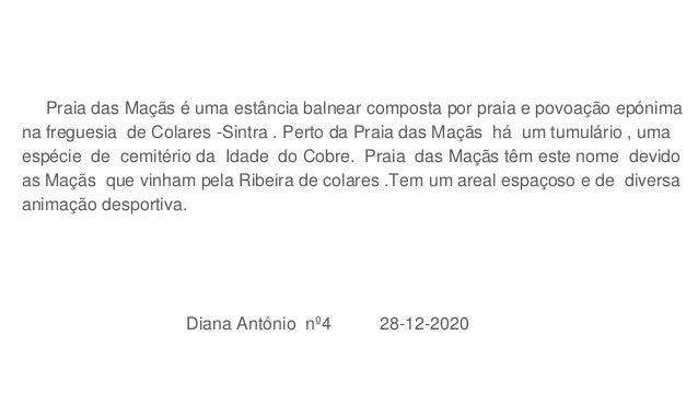 Praia das Maçãs - Diana António 4BSM Slide 3