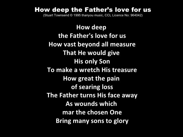 Unique How Deep The Fathers Love For Us Chords Inspiration ...