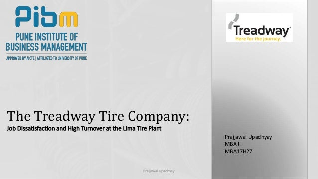 case analysis the treadway tire company Case study analysis of treadway tire company contents the issue within treadway tire company 1 alternate courses of action to addressing the identified issues 2 recommendation 3 treadway tire company is a supplier of tires to organizations that are original equipment manufacturer as well as tire markets and at the same time selling treadway primo, performance and private tire brands.