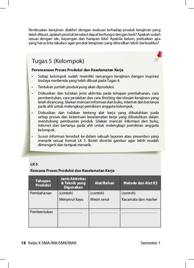 Prakarya Dan Kewirausahaan Edisi Revisi 2017 Semester 1 Untuk Sma Kel