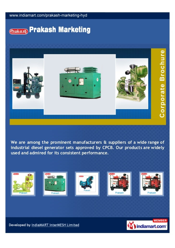 We are among the prominent manufacturers & suppliers of a wide range ofindustrial diesel generator sets approved by CPCB. ...