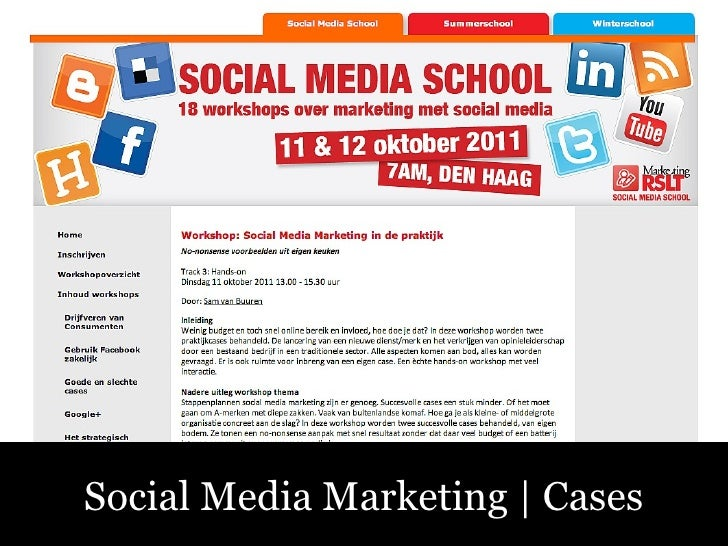 Sociale Media – Fluitend aan de Slag! Social Media Marketing | Cases