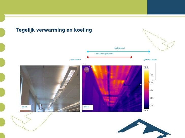 Tegelijk verwarming en koeling gevel gevel warm water gekoeld water verwarmingsplafond koelplafond