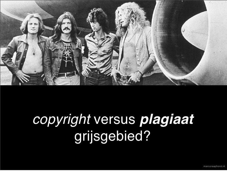 copyright versus plagiaat        grijsgebied?                             marcoraaphorst.nl