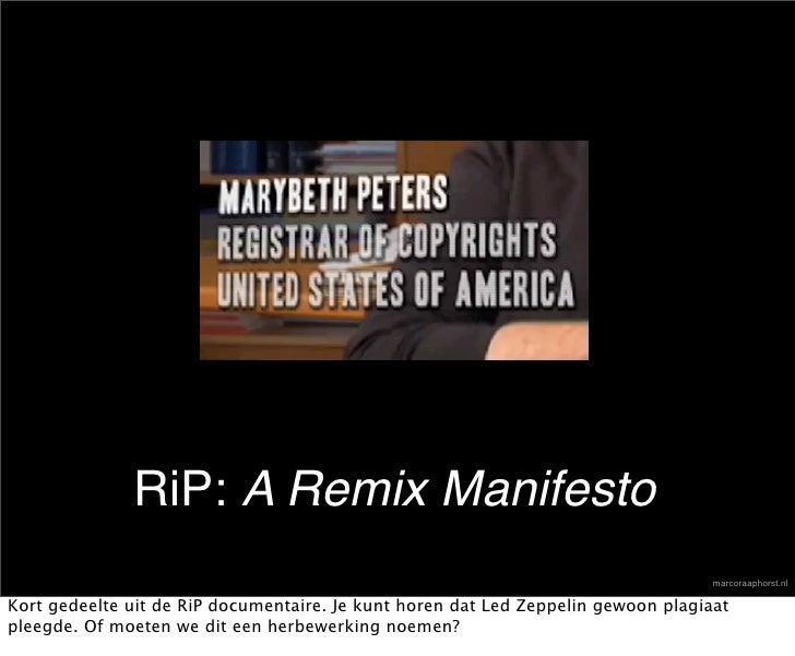 RiP: A Remix Manifesto                                                                                    marcoraaphorst.n...
