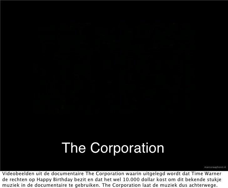 The Corporation                                                                                    marcoraaphorst.nl  Vide...