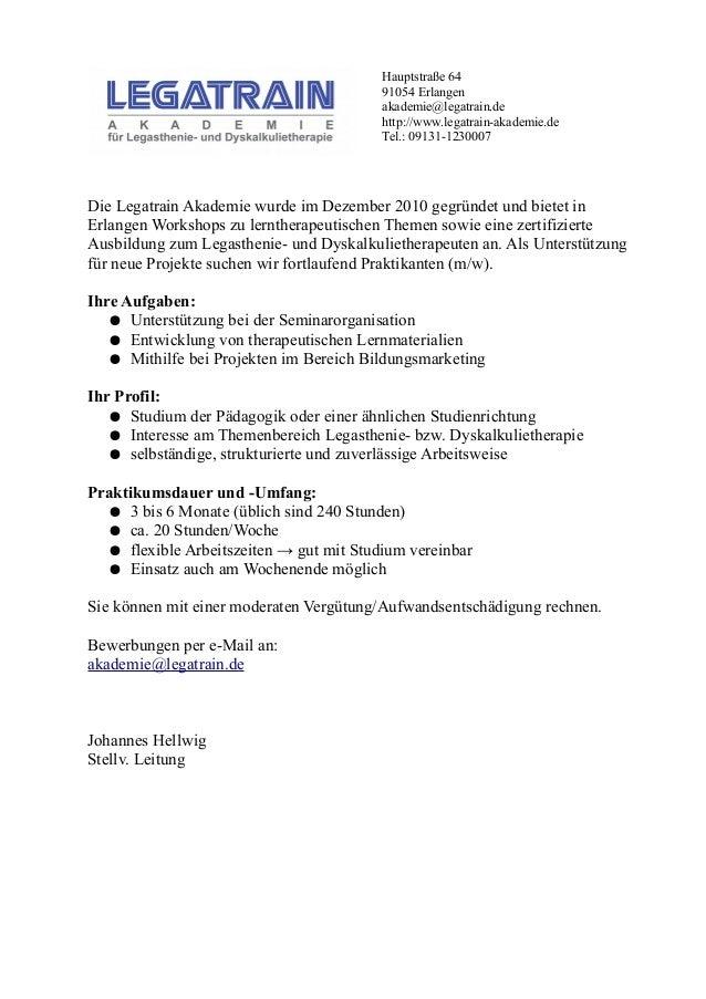 Hauptstraße 64 91054 Erlangen akademie@legatrain.de http://www.legatrain-akademie.de Tel.: 09131-1230007 Die Legatrain Aka...