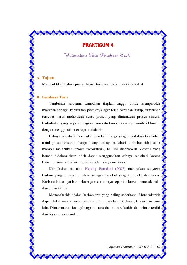 Praktikum Fotosintesis Pada Percobaan Sach