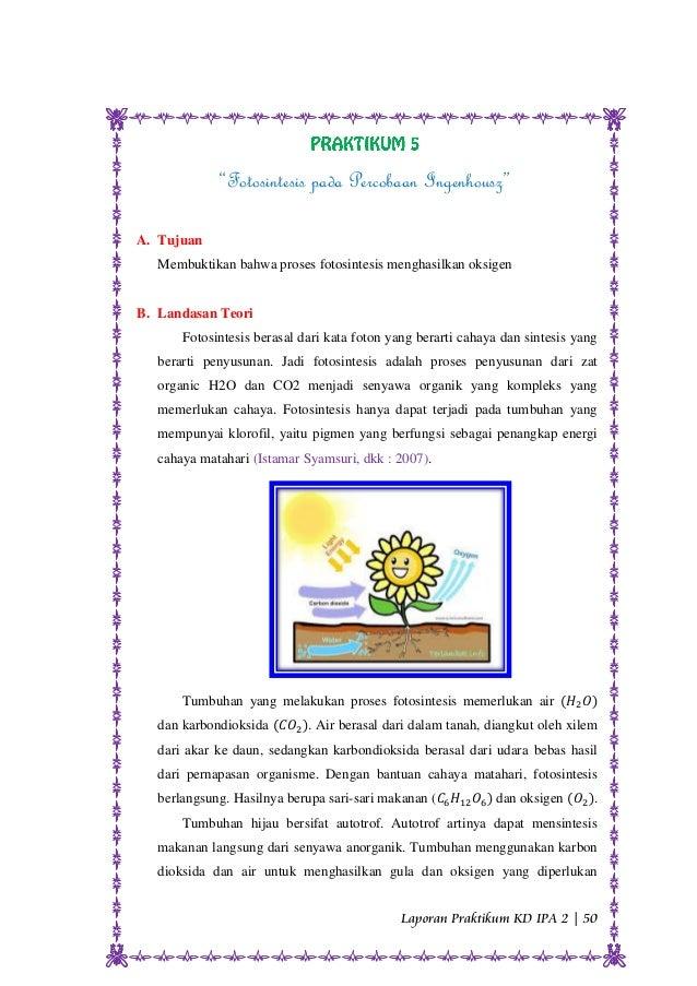 Praktikum Fotosintesis Pada Percobaan Ingenhouz