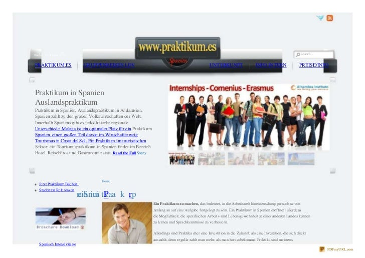 search...<br />Sunday, 17 October 2010<br />PRAKTIKUM.ES<br />GRUPPENREISEN LDV<br />UNTERKUNFT<br />INFO INTERN<br />PREI...