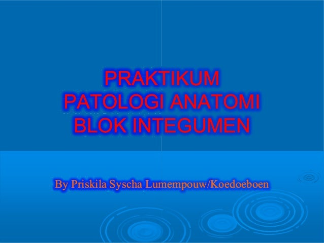 PRAKTIKUMPRAKTIKUM PATOLOGI ANATOMIPATOLOGI ANATOMI BLOK INTEGUMENBLOK INTEGUMEN ByBy PriskilaPriskila SyschaSyscha Lumemp...