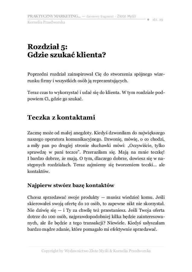 1c093f56725b77 Copyright by Wydawnictwo Złote Myśli & Kornelia Przedworska; 19.