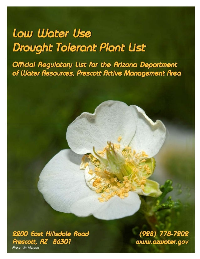 Low Water UseLow Water UseDrought Tolerant Plant ListOfficial Regulatory List for the Arizona DepartmentOfficial Regulator...