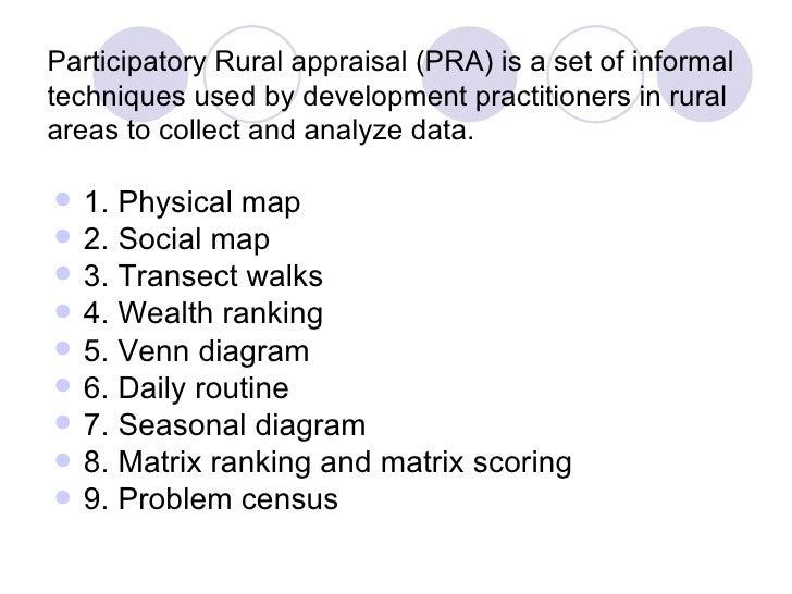 Participatory rural appraisal (pra) tool youtube.