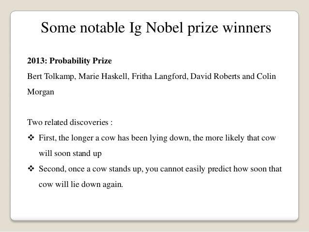 Piers barnes ig nobel prizes