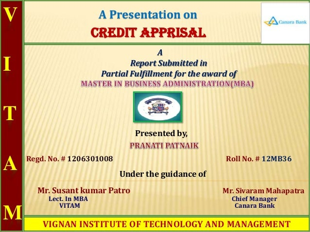 credit appraisal assessment from bankers point of Academiaedu is a platform for academics to share research papers.