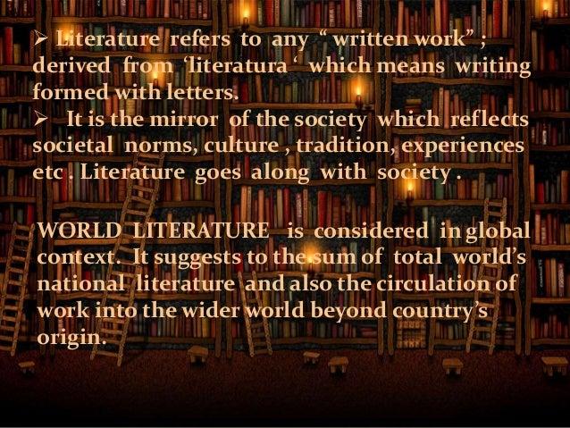 world literature definition