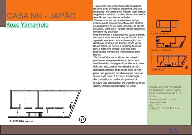 CASA NN - JAPÃO Kozo Yamamoto Arquitetos: Kozo Yamamoto Localização: Tóquio, Japão Engenharia Estrutural: a・s・t atelier Co...