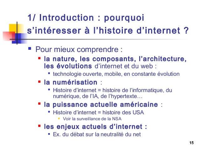Histoire et anthropologie de l'internet, 1ère partie