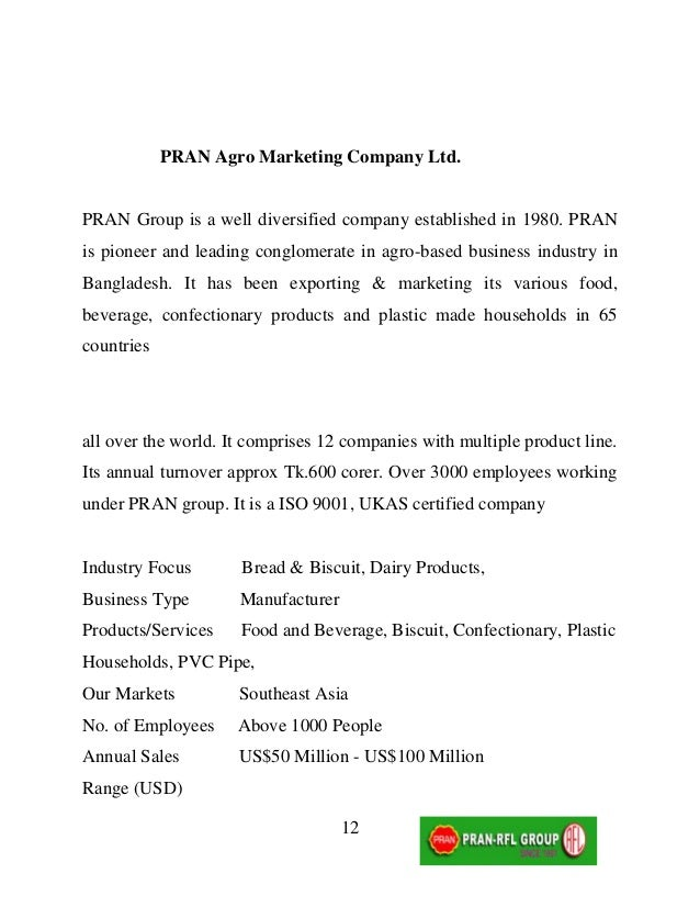 Pran Food Products Price List
