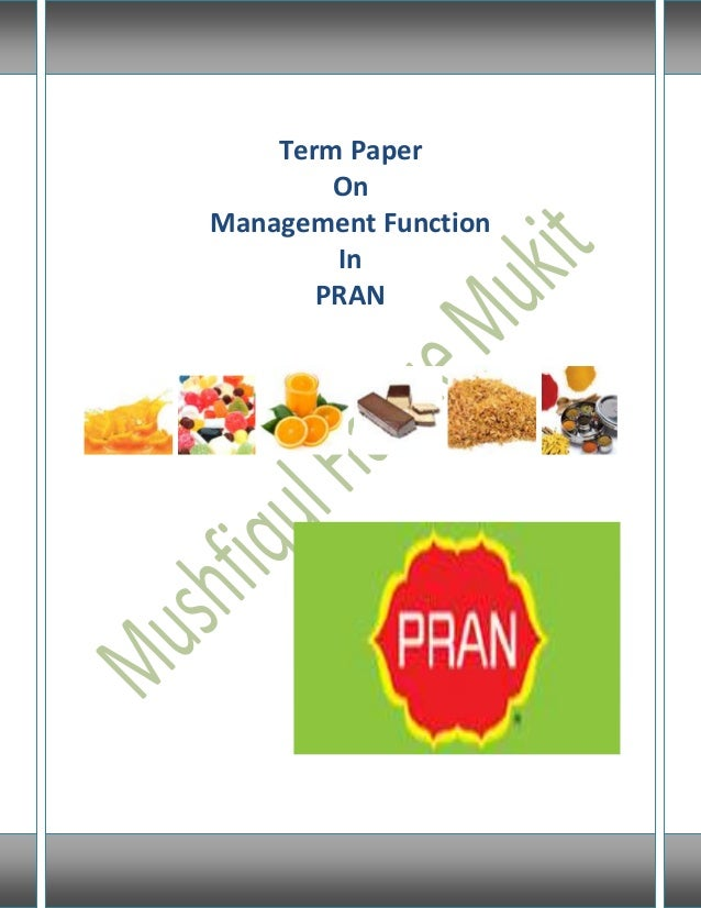 Term paper on management functions