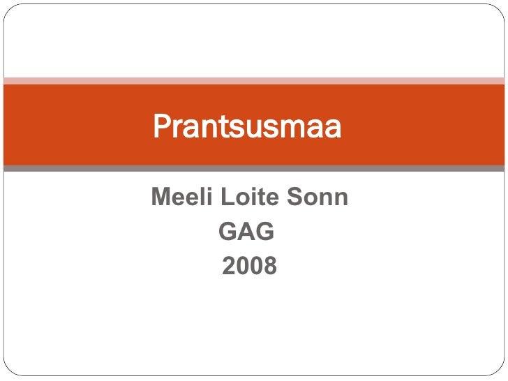 Meeli Loite Sonn GAG  2008 Prantsusmaa