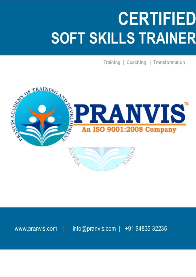 pranvis certified soft skills trainer brochure
