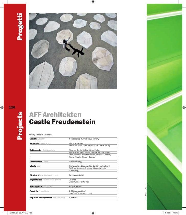 Progetti126        Projects                      AFF Architekten                      Castle Freudenstein                 ...