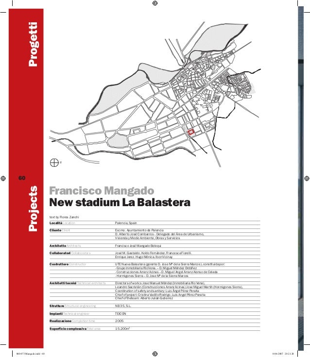 Progetti Projects  60  Francisco Mangado New stadium La Balastera text by Flores Zanchi Palencia, Spain  Cliente Client  E...
