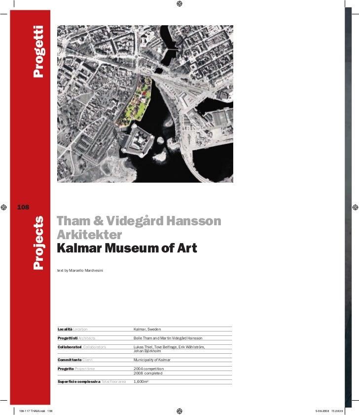 Progetti108         Projects                        Tham & Videgård Hansson                        Arkitekter             ...