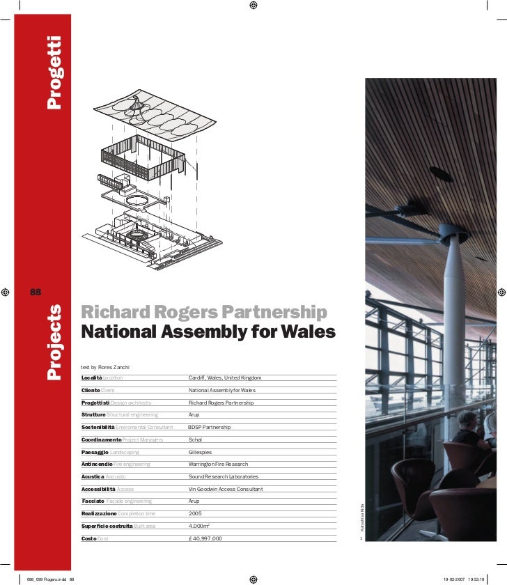 Progetti 88         Projects                         Richard Rogers Partnership                         National Assembly ...