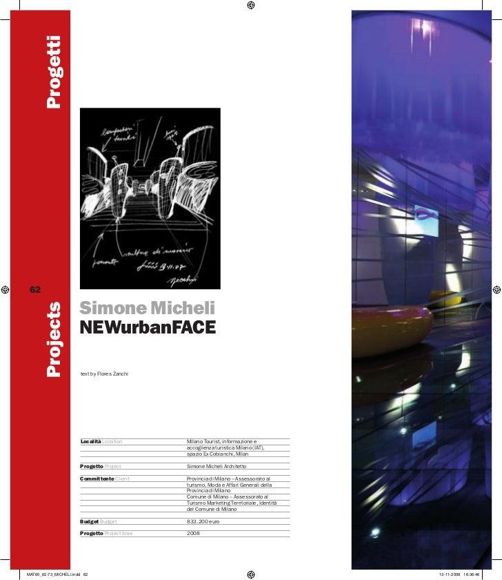 Progetti 62                       Simone Micheli        Projects                       NEWurbanFACE                       ...