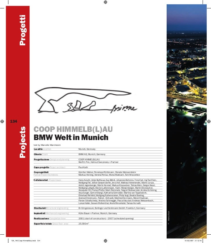 Progetti134         Projects                        COOP HIMMELB(L)AU                        BMW Welt in Munich           ...