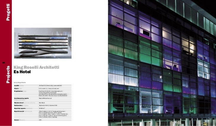Progetti68                King Roselli Architetti     Projects                Es Hotel                text by Filippo Nico...