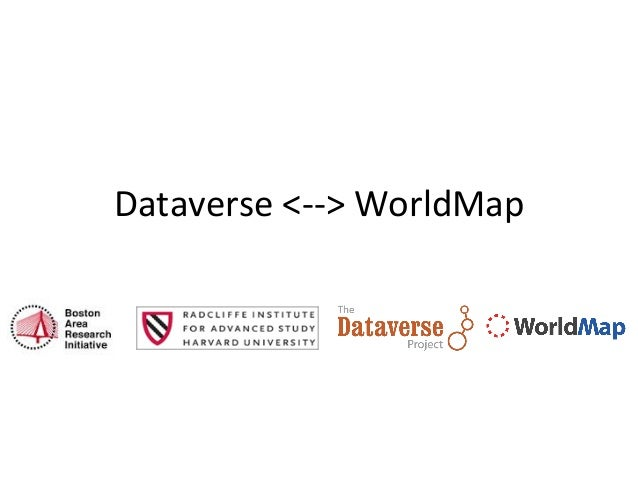 Dataverse	   <-­‐-­‐>	   WorldMap