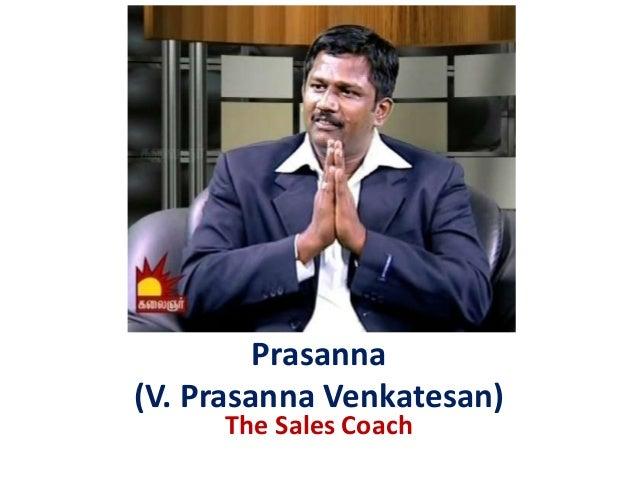 Prasanna (V. Prasanna Venkatesan) The Sales Coach