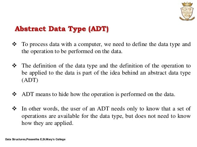 Computer Science Data Structures Abstract Datatype Adt