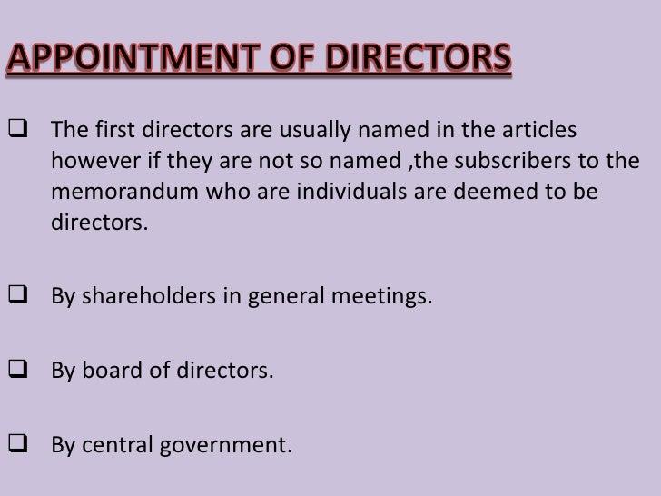 The exact position of 'director' is hard to define</li></li></ul><li>NO. OF DIRECTORS<br /><ul><li>      Public company ...