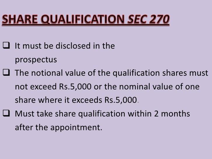 QUALIFICATION OF DIRECTORS<br /><ul><li>  The companies act has not prescribed any</li></ul>  academic or professional qua...