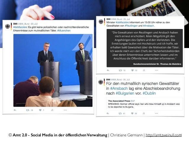 © Amt 2.0 - Social Media in der öffentlichen Verwaltung | Christiane Germann | http://amtzweinull.com19