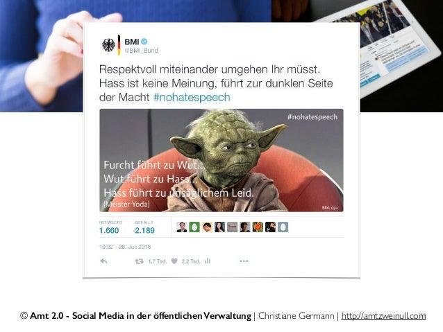 © Amt 2.0 - Social Media in der öffentlichen Verwaltung | Christiane Germann | http://amtzweinull.com22