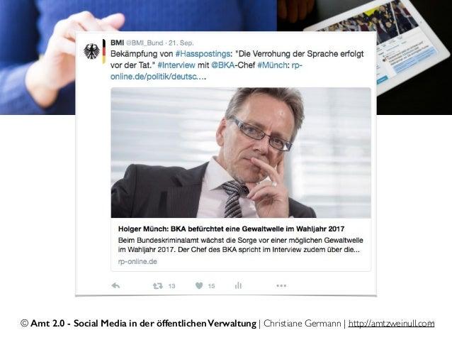 © Amt 2.0 - Social Media in der öffentlichen Verwaltung | Christiane Germann | http://amtzweinull.com24